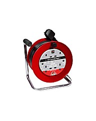 Masterplug 4 Socket Cable Reel - 15m