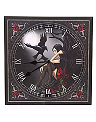 Dark Angel with Raven Picture Clock