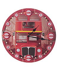 Round Routemaster Bus Picture Clock
