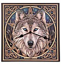 Celtic Wolf Head Picture Clock