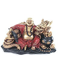 Red and Gold Chinese Buddha and Dragon
