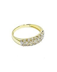 9ct Yellow Gold Champagne Dia Pave Ring