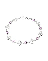 Silver And Amethyst Celtic Bracelet