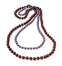 2pc Purple & Red Necklace