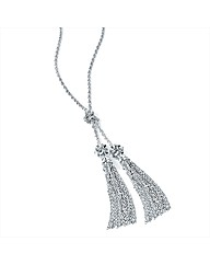 Silver Coloured Tassle Necklace