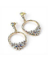 Gold Coloured Drop Earring