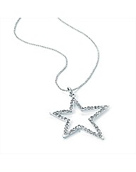 Silver Coloured Star Chain Necklace
