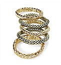 5pc Gold Coloured Elastic Chain Bracelet