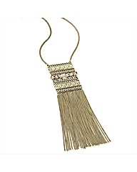 Gold Coloured Tassle Necklace