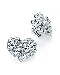 Silver Coloured Heart Elasticated Ring