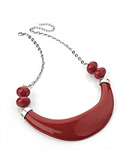 Red Half Moon Chain Necklace