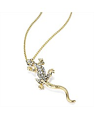 Gold Coloured Lizard Chain Necklace