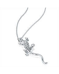 Silver Coloured Lizard Chain Necklace