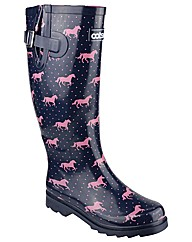 Cotswold Jockey Womens Patterned Wellies