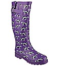 Cotswold Freesian Womens Patterned Welly