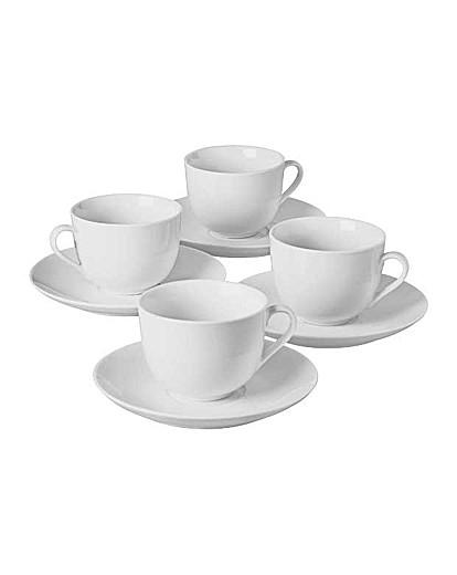4 Piece Porcelain Tea Cup and Saucer Set