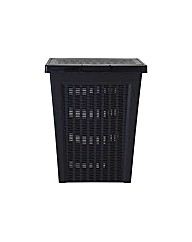 Keter Rattan Laundry Basket  Charcoal