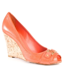 Tory Burch Carnell Orange Wedge