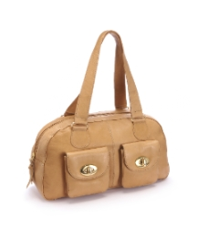 Lili Bou Leather Bowiling Bag