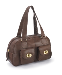 Lili Bou Leather Bowling Bag