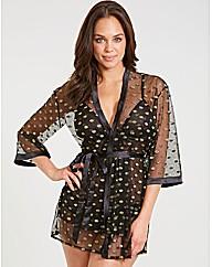 Layla Gold Spot Robe