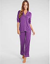 Camelia Soft Touch Button Through PJ Set