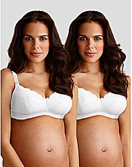 Holly 2 Pack Microfibre/lace Nursing Bra