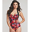 Flamenco Rose Underwired Halter Swimsuit