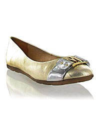Marta Jonsson metallic leather pump