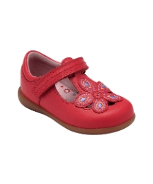 Start-rite April Red Leather Fit F Shoes
