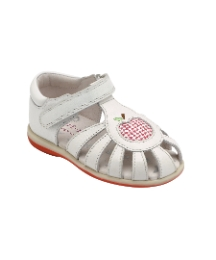 Start-rite Leticia Wht Lea Fit F Sandal