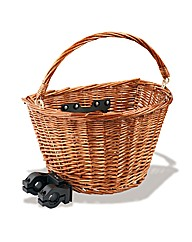 Traditional Wicker Cycle Basket Brown