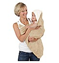Cuddledry Bathing Apron Oatmeal/White