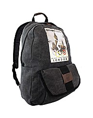 London 2012 Vintage Canvas Rucksack