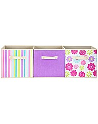 3 Pack of Canvas Storage Boxes