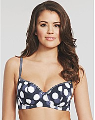 Sail Away Padded Sweetheart Bikini Top