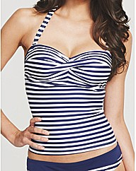 Preppy Stripe Underwired Tankini Top