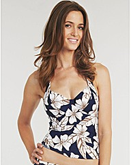 California Underwired Halter Tankini Top