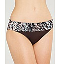 Abstract Print Fold Bikini Brief