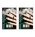 2 Sets of Nail Rock Glister Gold Wraps