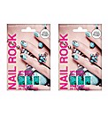 2 Sets of Nail Rock Jade Quail Wraps