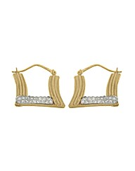 9ct Gold Crystalique Groove Earrings