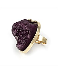 Purple Glass Look Ring