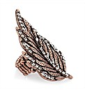 Copper Coloured Leaf Ring