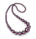 Purple Pearl Effect Necklace