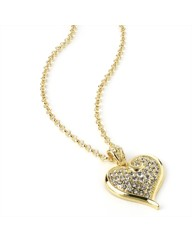Gold Coloured Heart Chain Necklace