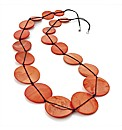 Orange Coloured Shell Look Necklace