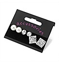 3 Pairs Silver Coloured Earring Set