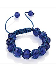 Sapphire Coloured Glass Bead Bracelet