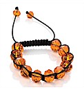 Orange Glass Beaded Ball Bracelet